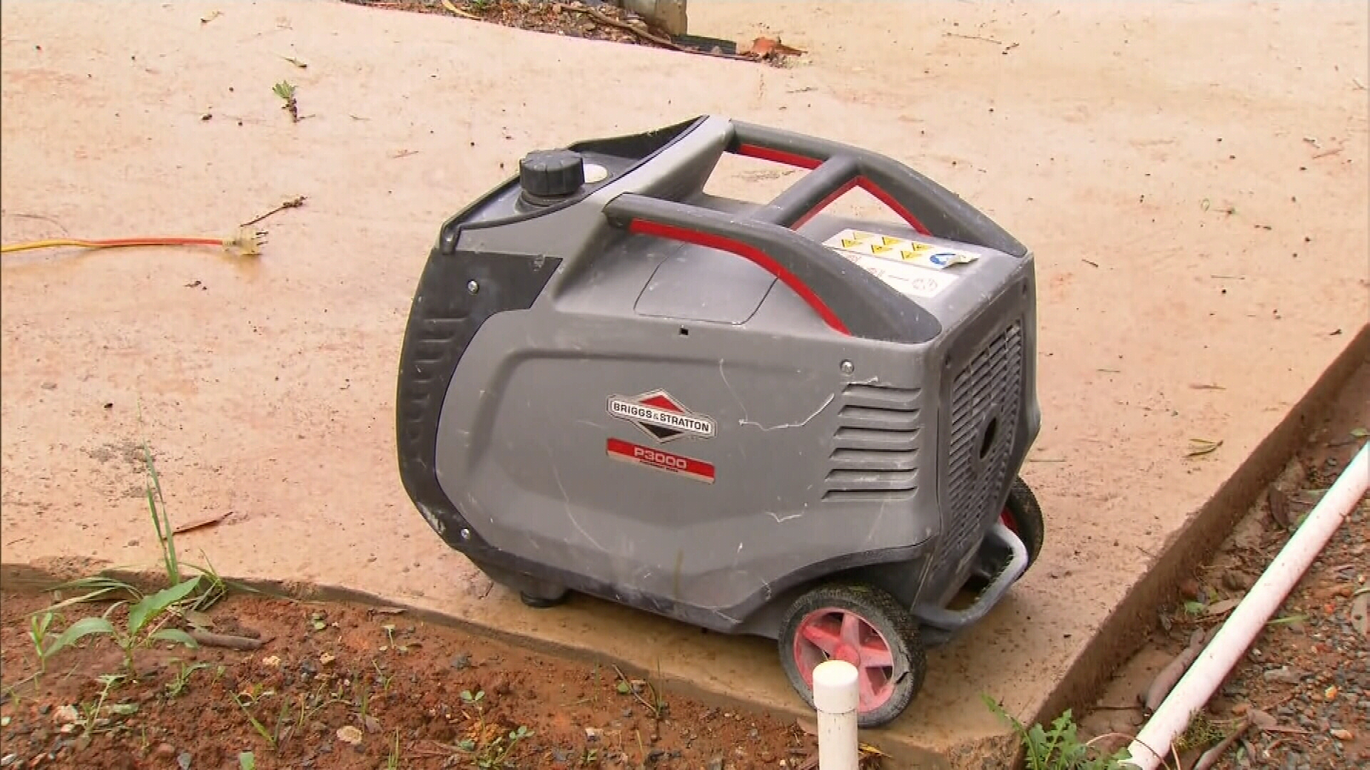 They were running a generator inside the home after their electricity went out during a storm.