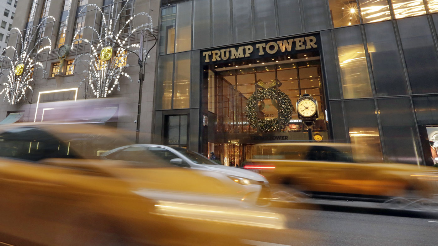 Trump Tower is located on Fifth Avenue in Manhattan.