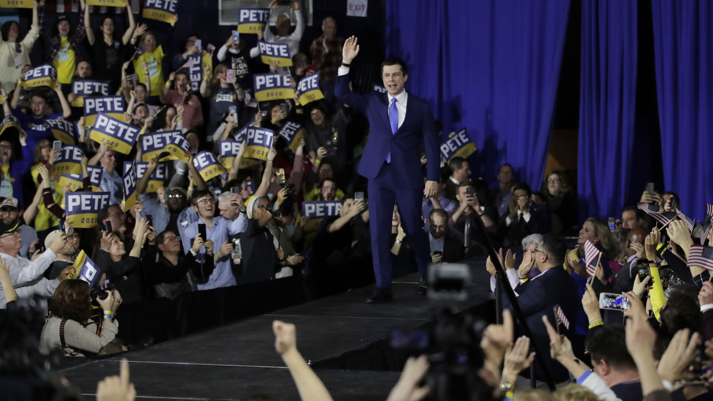 Mayor Pete Buttigieg narrowly came second in the New Hampshire primary.