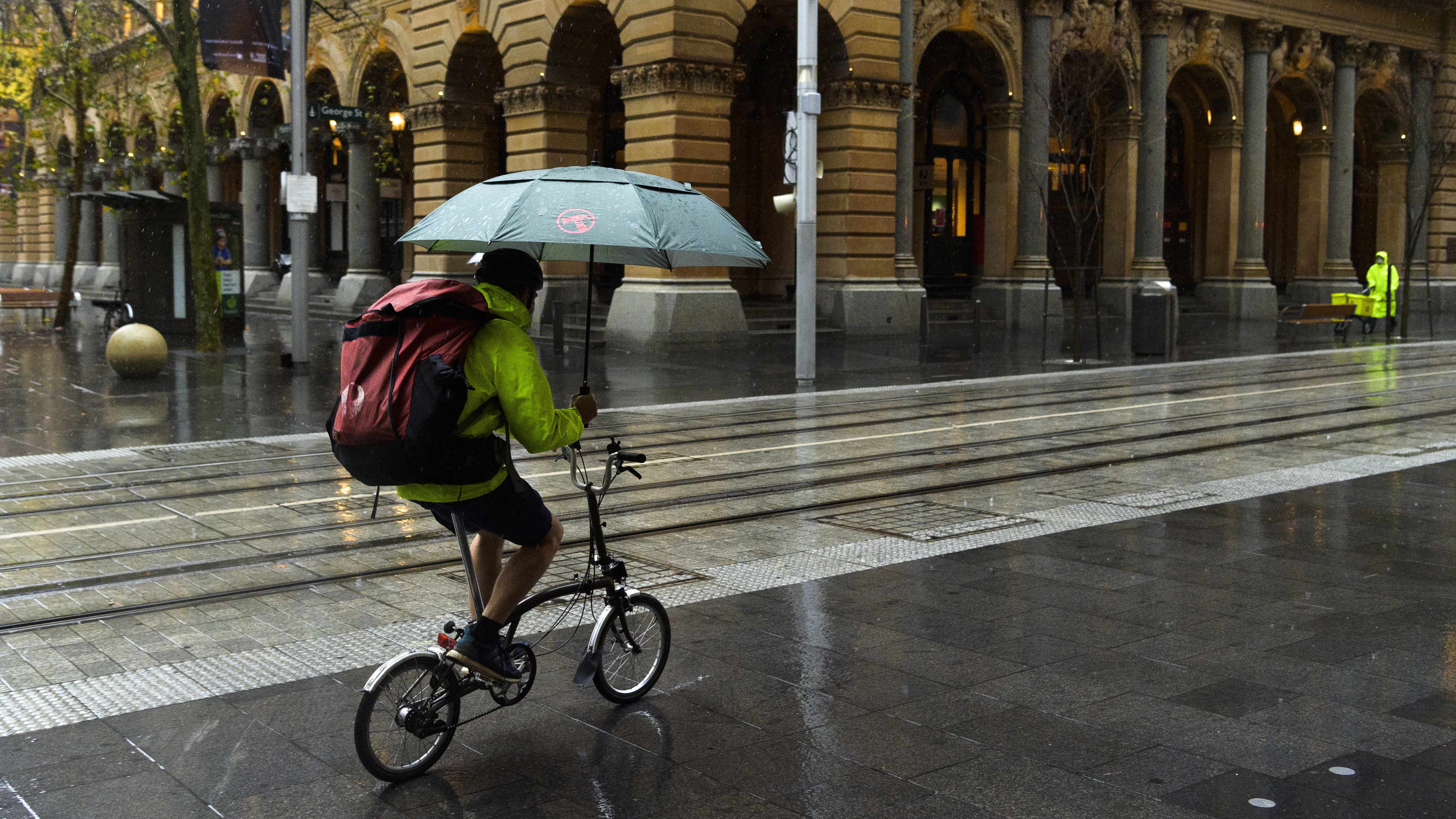 Sydney is being hit by rain and wind.