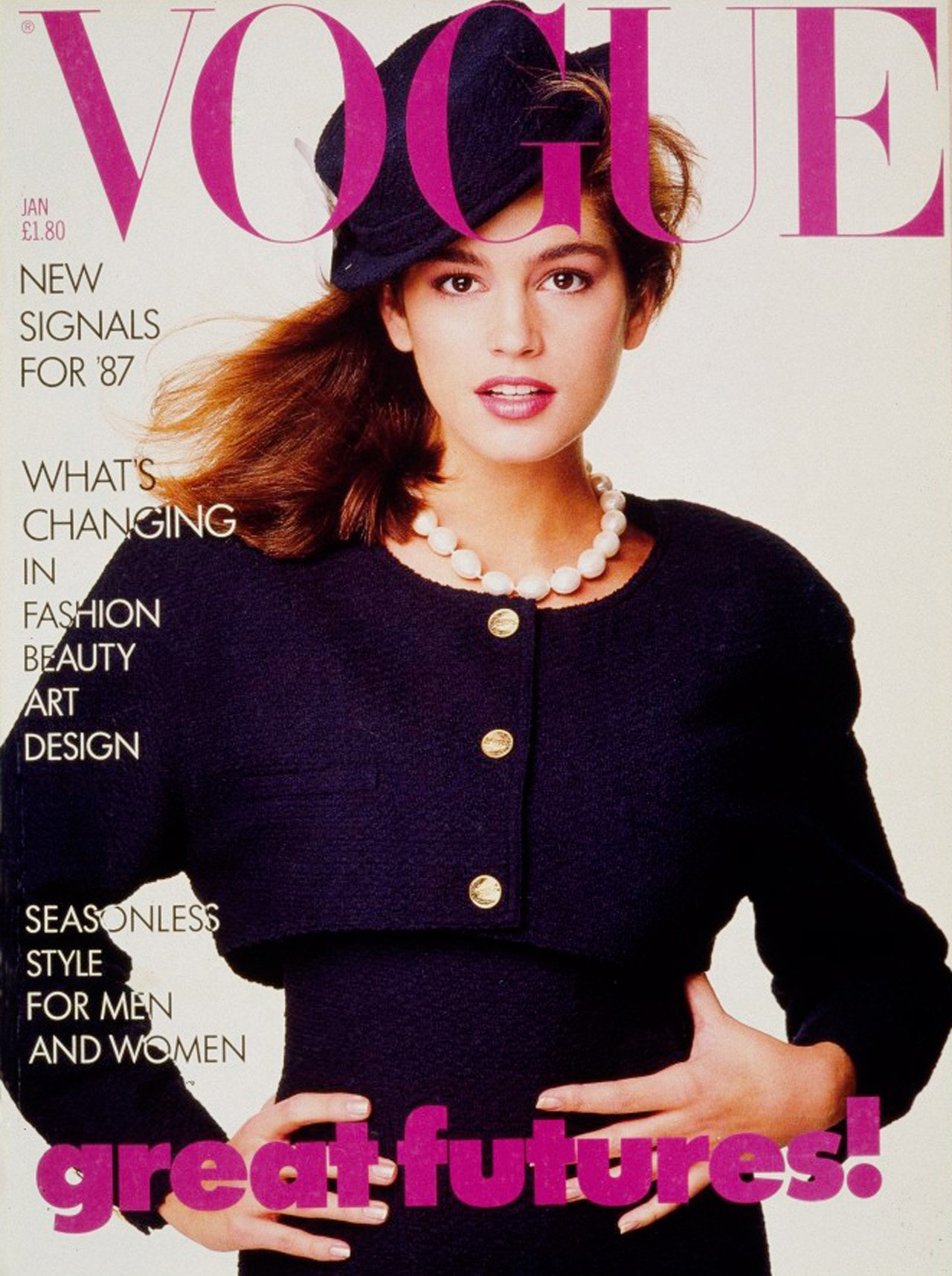 Cindy Crawford, first, Vogue, cover