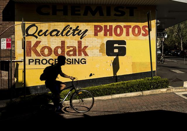 A Kodak sign on a wall in Glebe, Sydney.