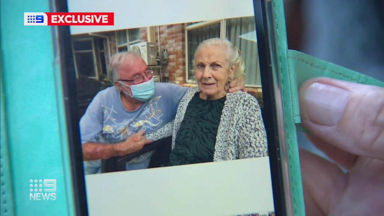 John Graham broke down while explaining his situation to 9News, saying his wife Veronica couldn't be transferred to a Queensland Hospital and he wouldn't be allowed across the border.