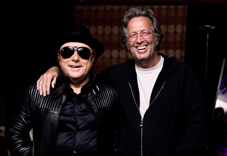 Van Morrison and Eric Clapton