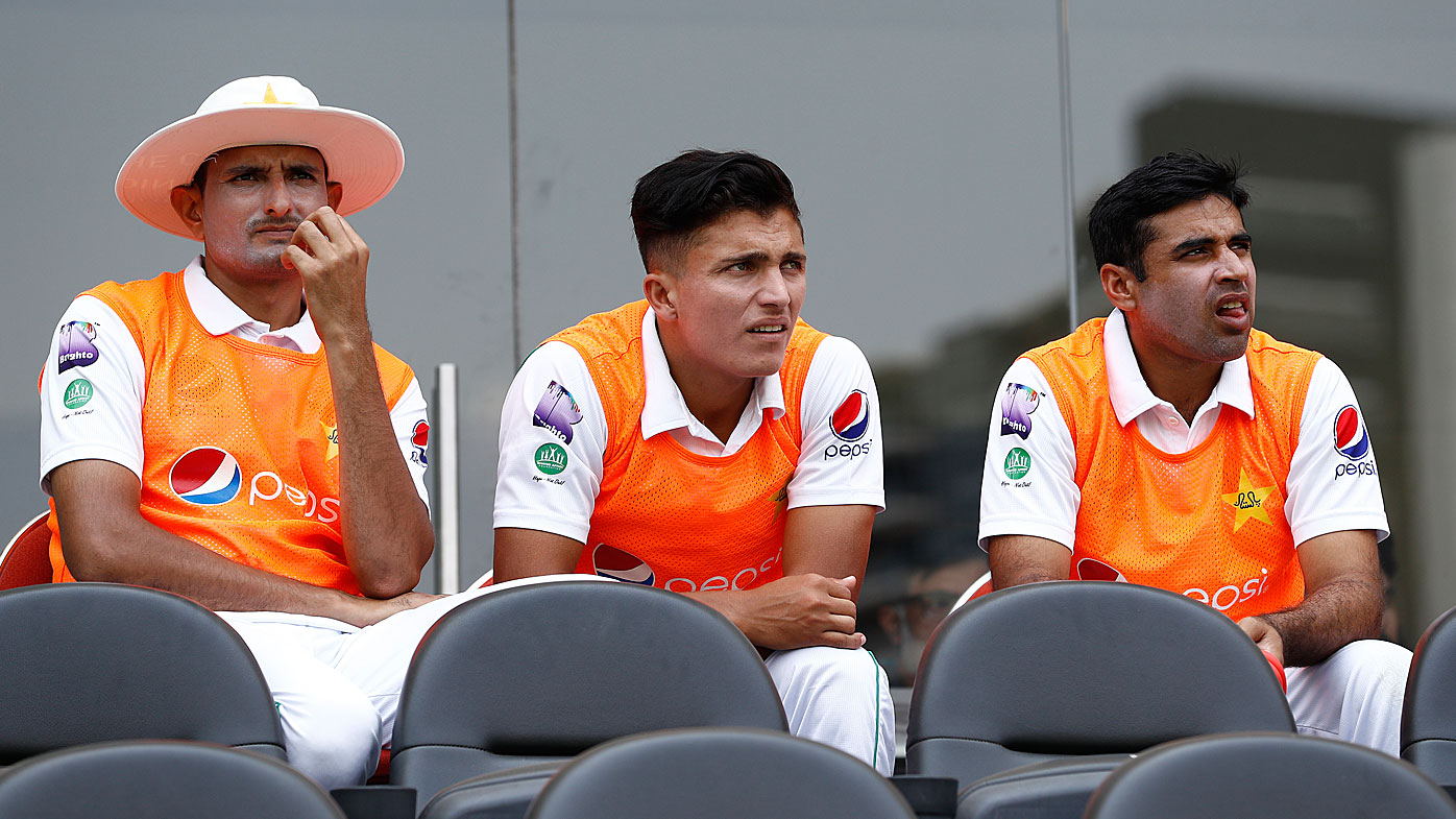 Mohammad Abbas of Pakistan looks on after being left out of Pakistan's XI