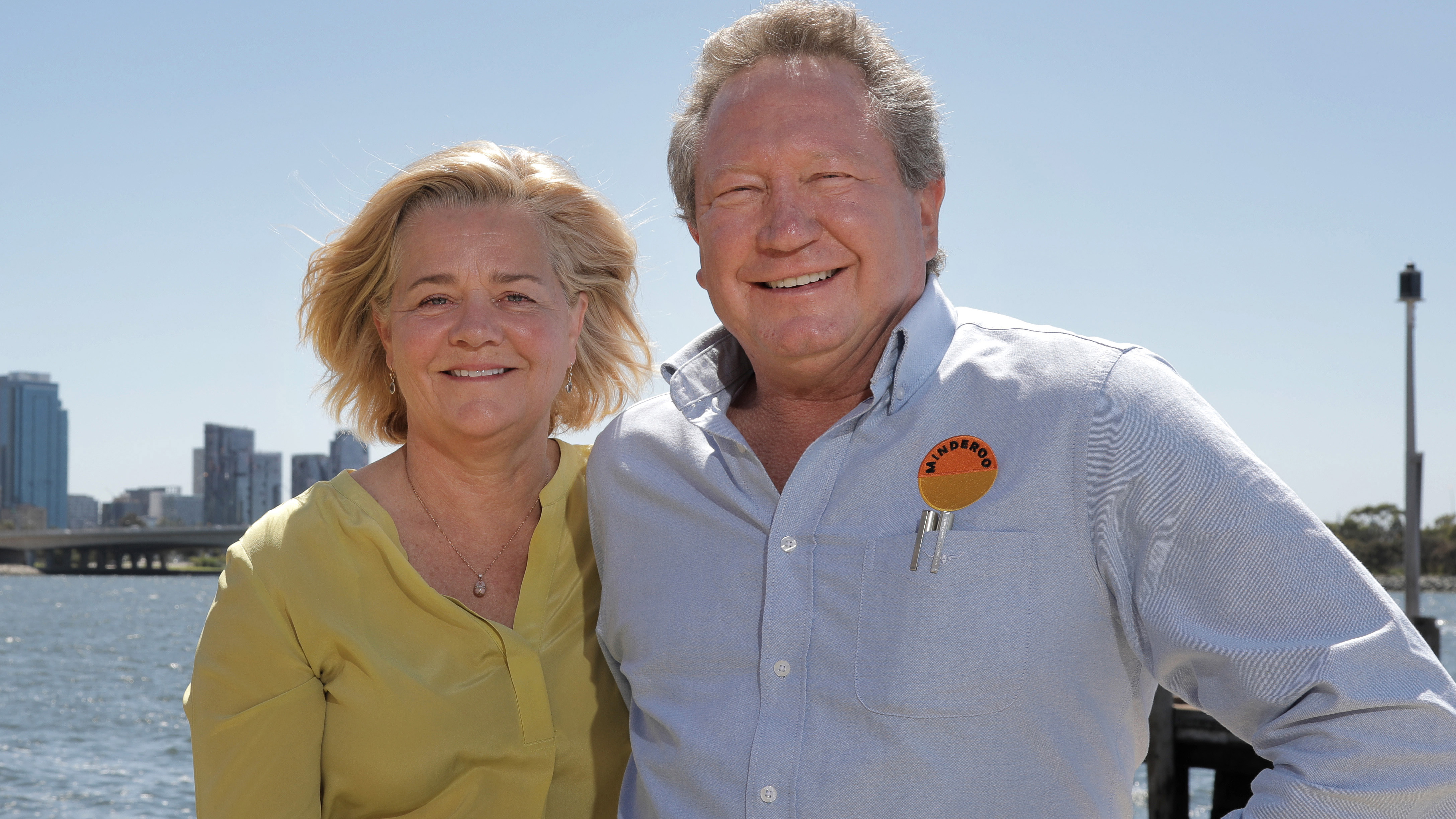 Andrew 'Twiggy' Forrest,, who has bought RM Williams, and his wife Nicola, in Perth in January.