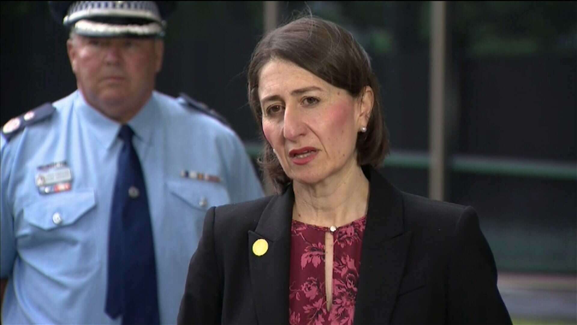 Premier Gladys Berejiklian at a media briefing on Thursday, where it was declared NSW COVID-19 cases have risen to 1219, with 190 new positive tests overnight.