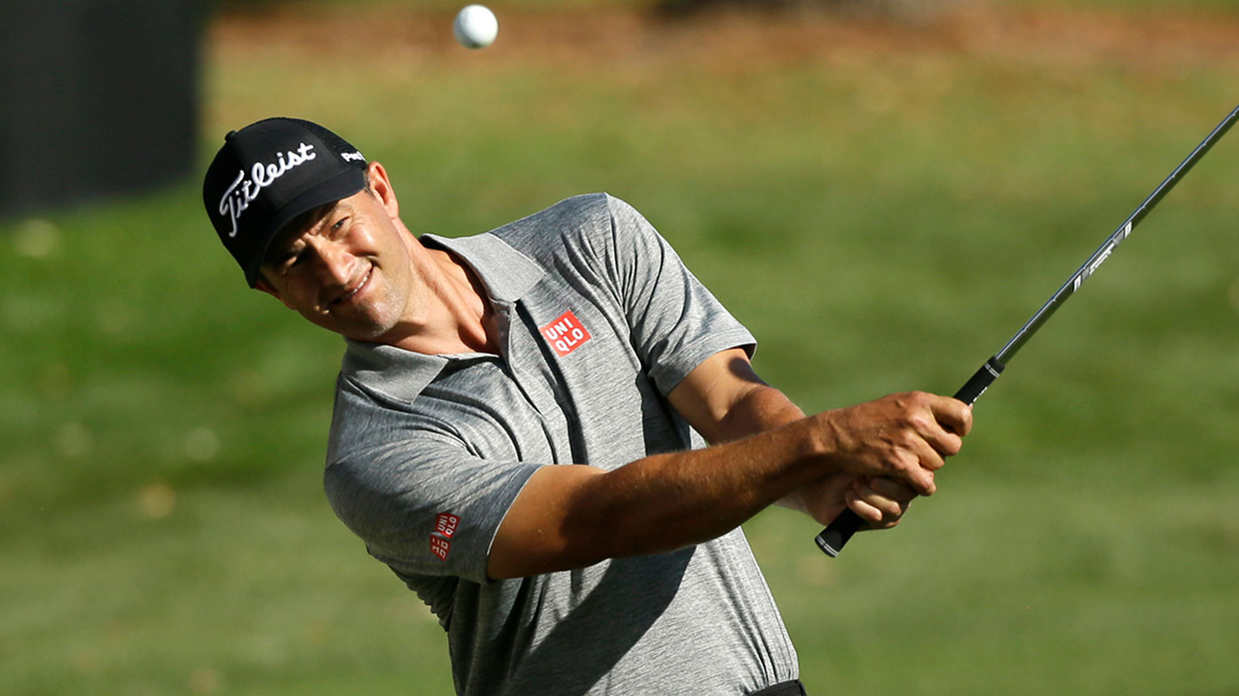 Adam Scott has a share of the lead after the opening round of the Safeway Open.