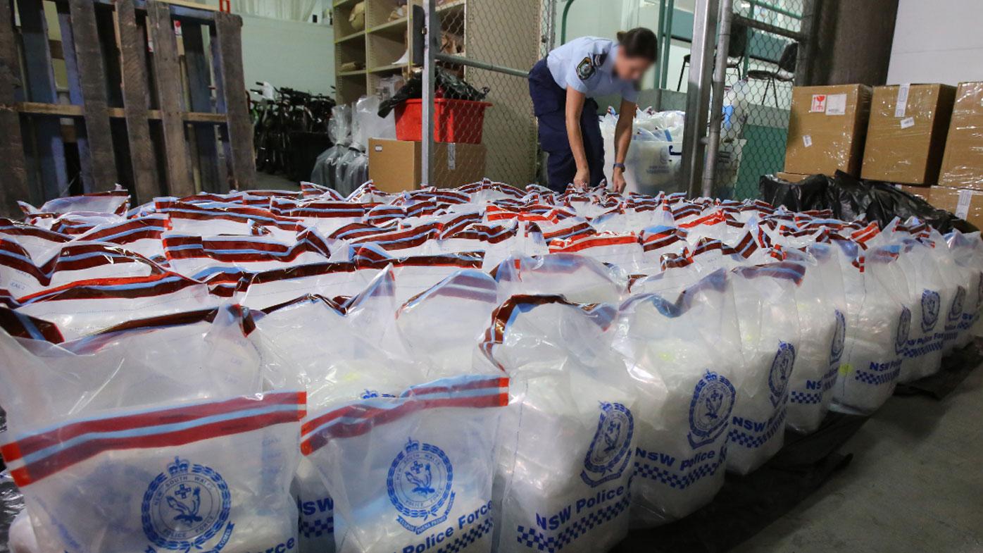 $300 million worth of methylamphetamine has been seized on arrival in Sydney.