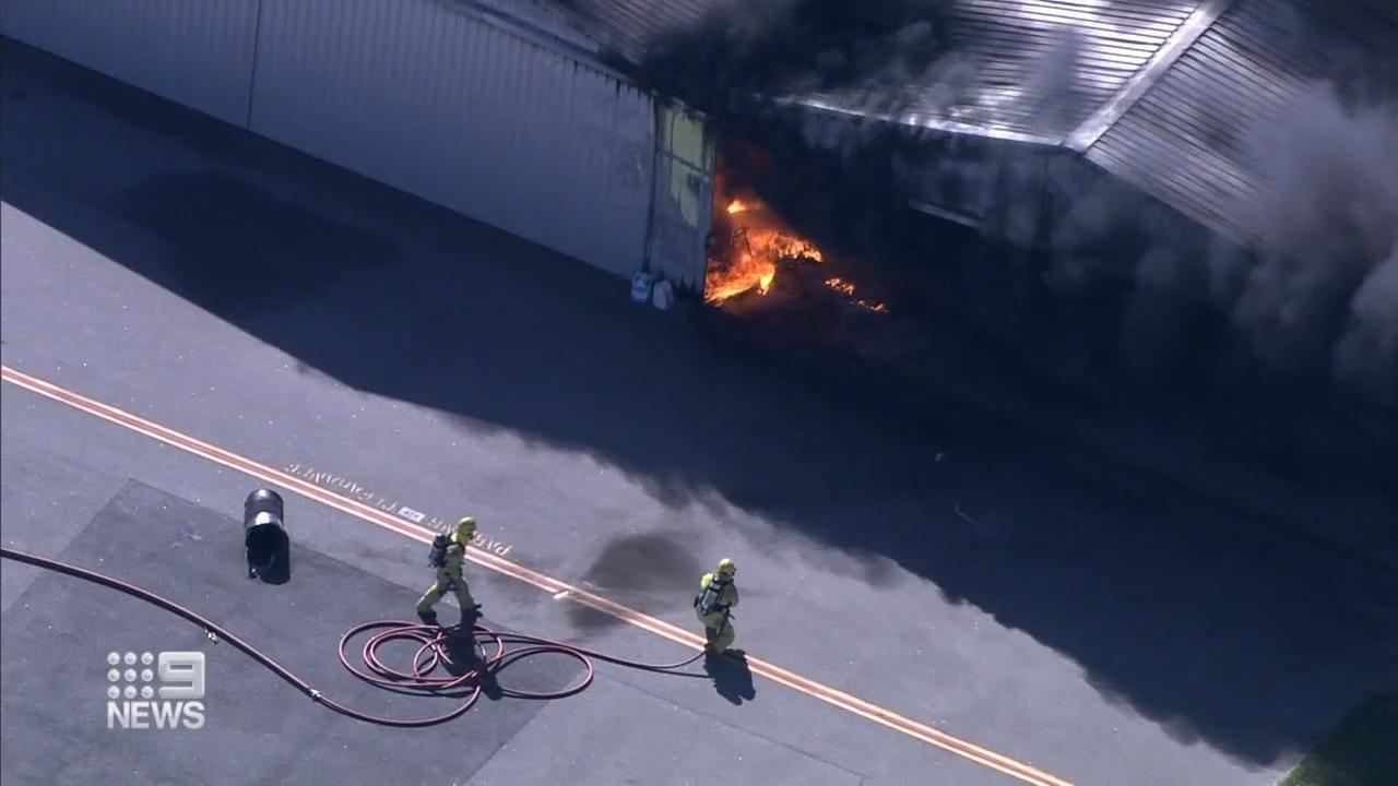 Jandakot airport blaze