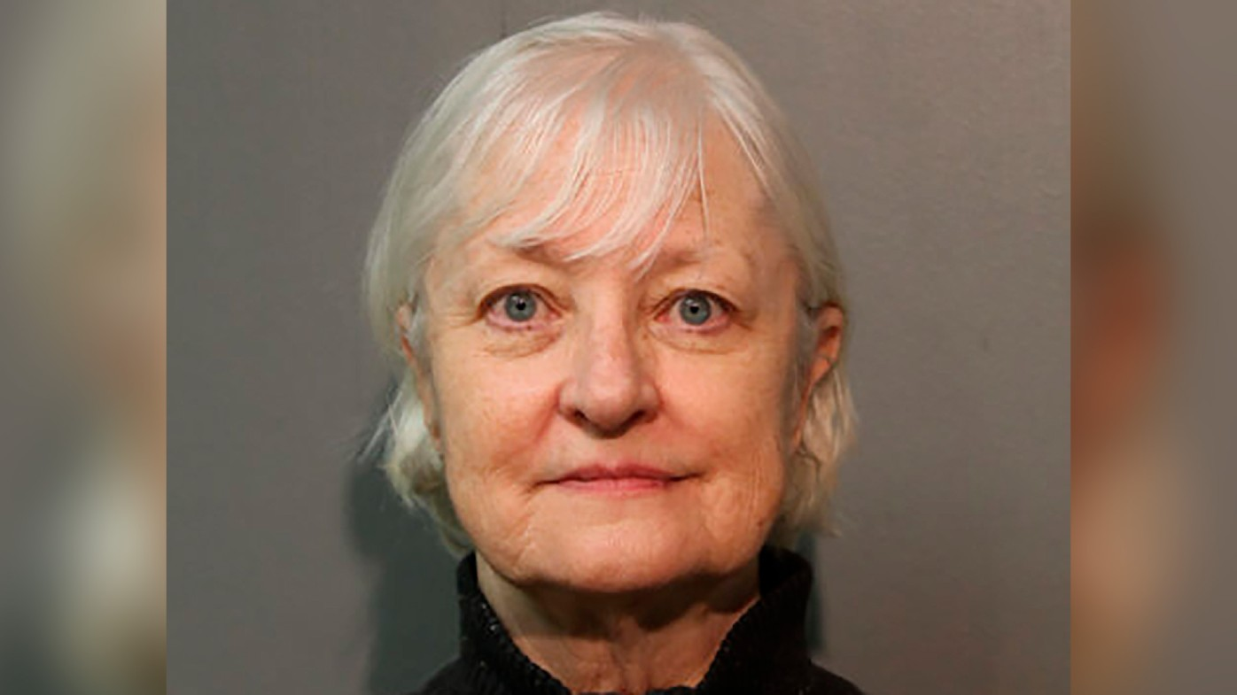 'Serial stowaway' Marilyn Hartman, seen here in a January 2018 file photo, was arrested at Chicago's O'Hare International Airport on Tuesday.