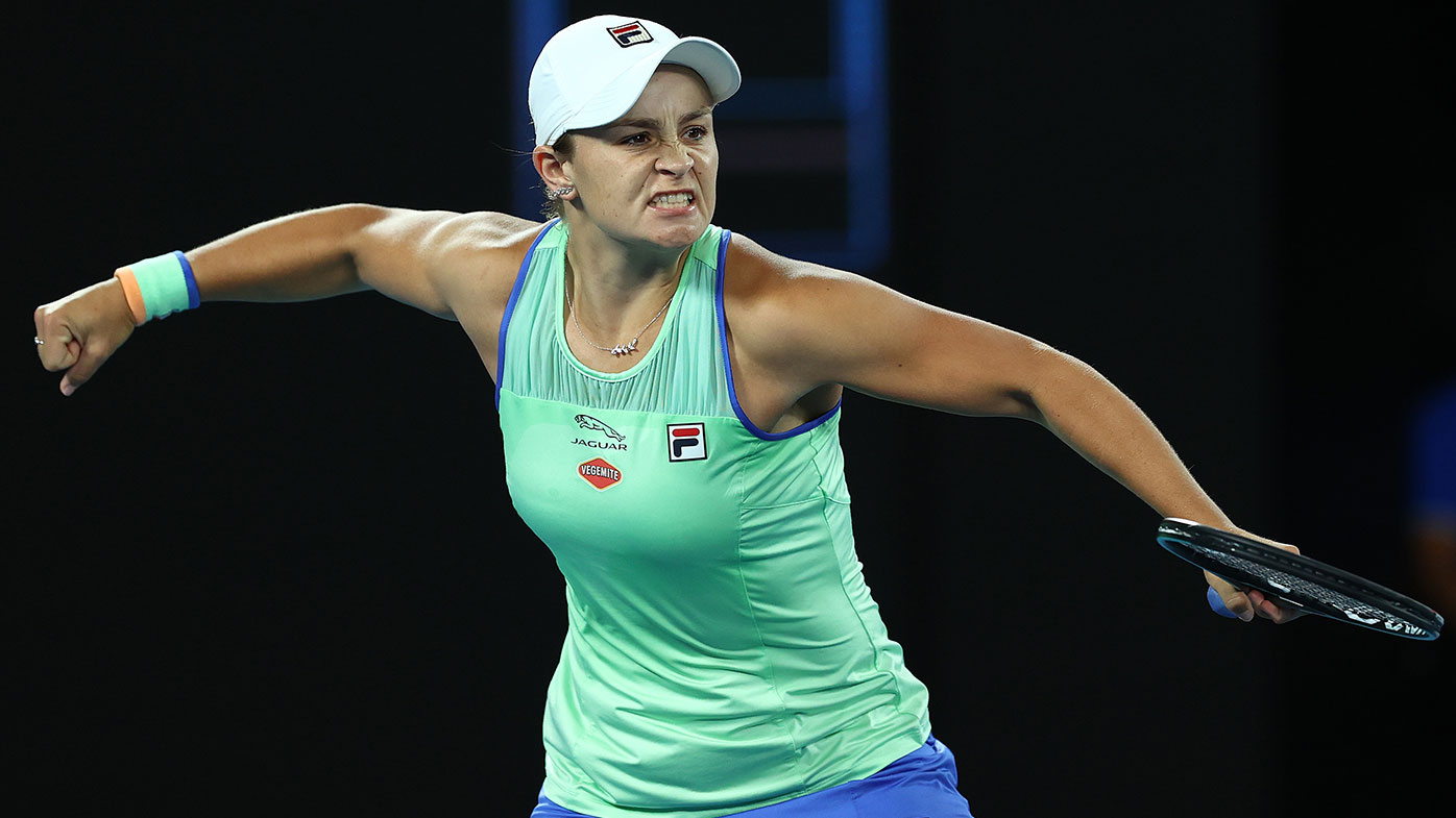 Barty advances after three-set thriller