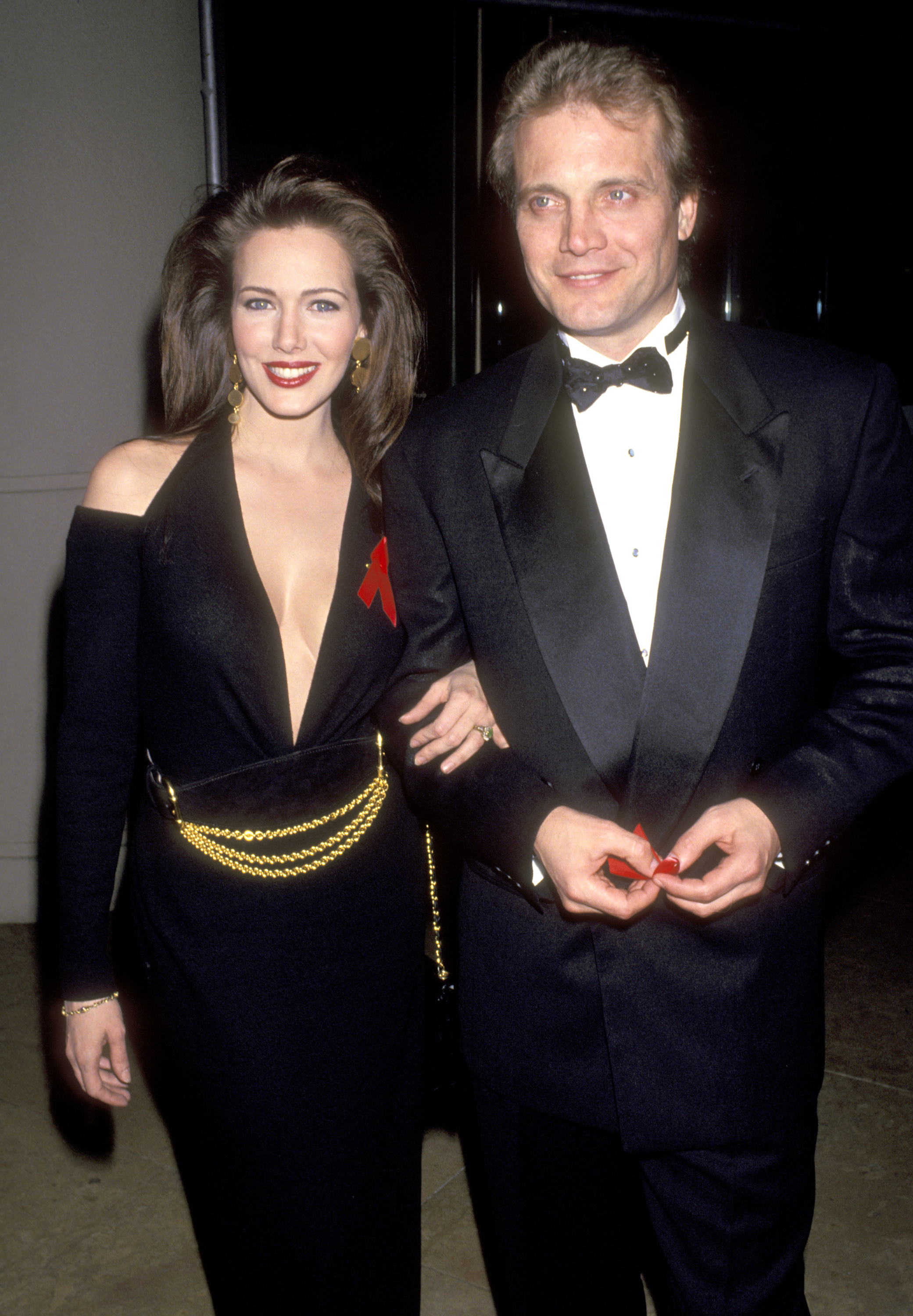 Actors Hunter Tylo and Michael Tylor attend the Ninth Annual Soap Opera Digest Awards on February 26, 1993 at Beverly Hilton Hotel in Beverly Hills, California.