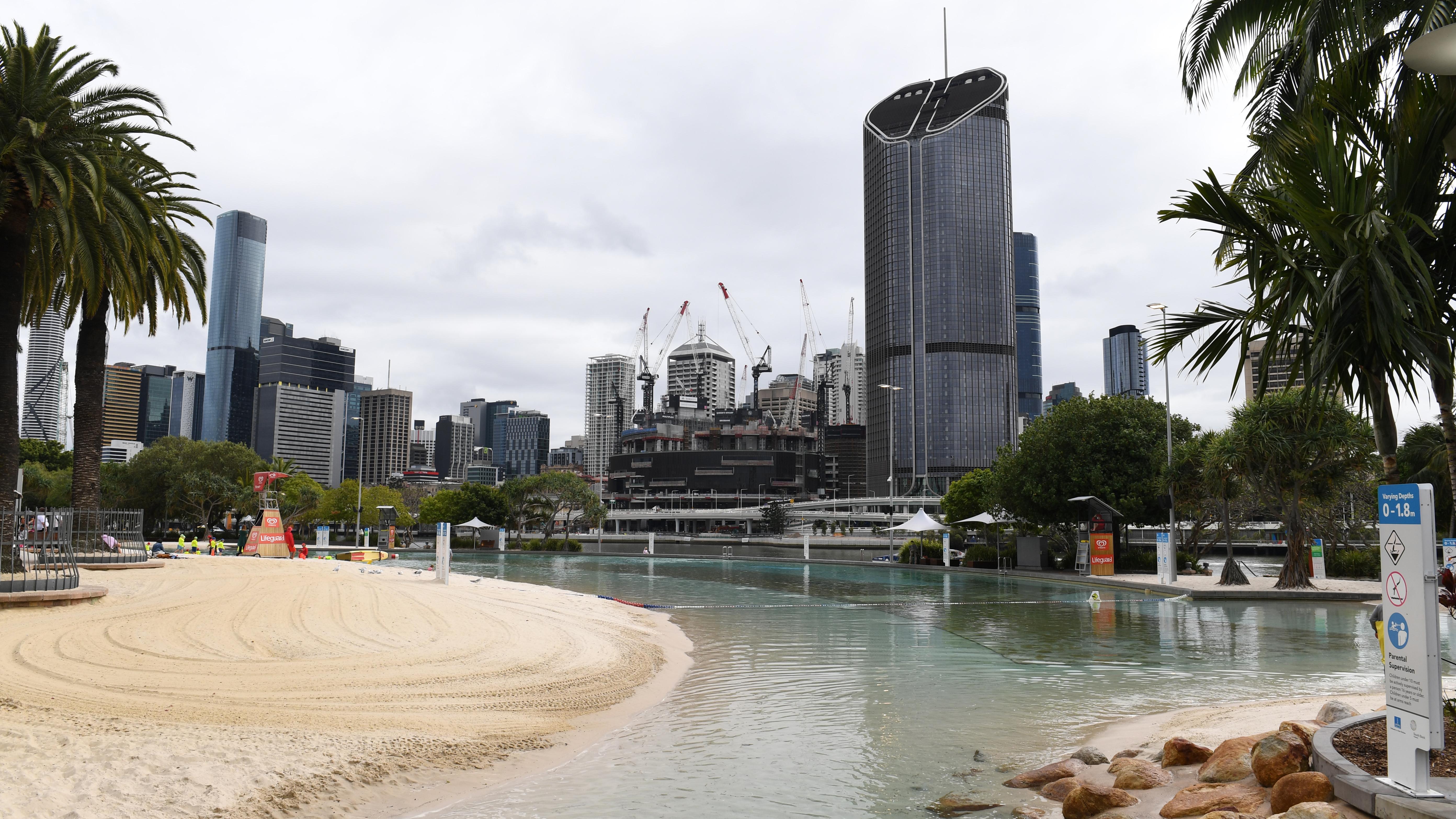 Brisbane CBD from Southbank