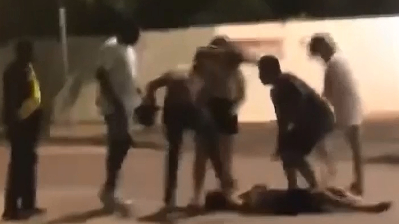 The brawl was captured on video.