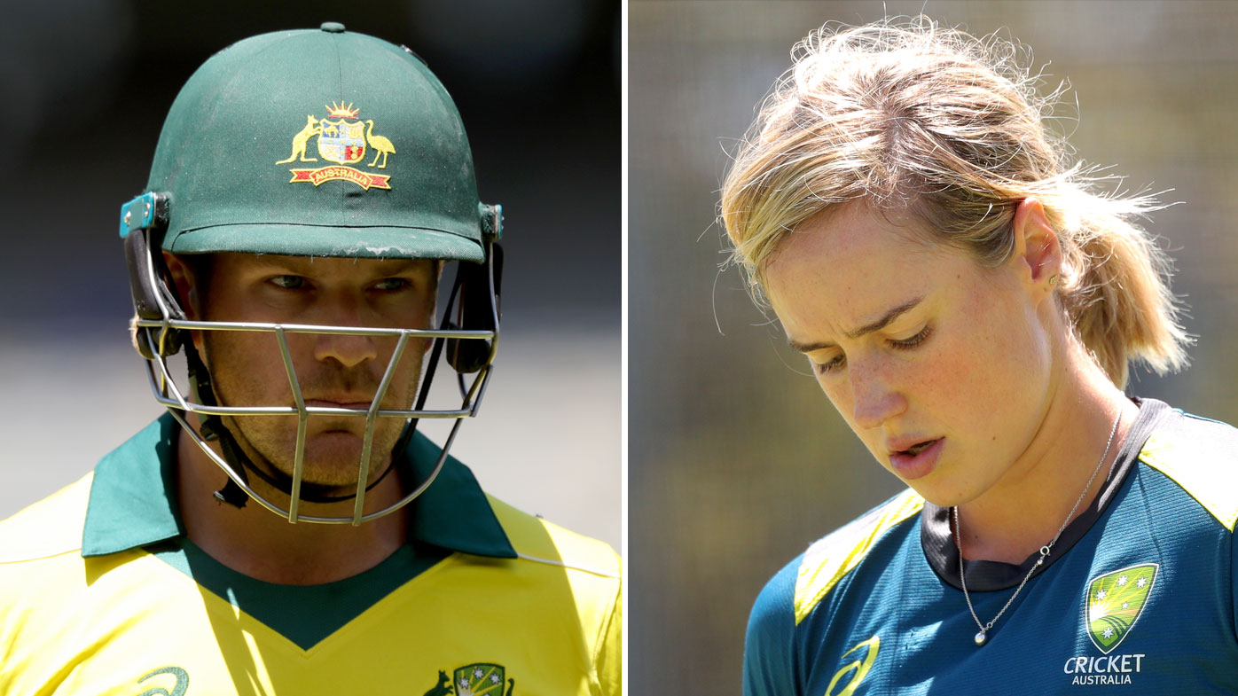 Aaron Finch (left) and Ellyse Perry find themselves at the centre of a dispute between CA and the BCCI.