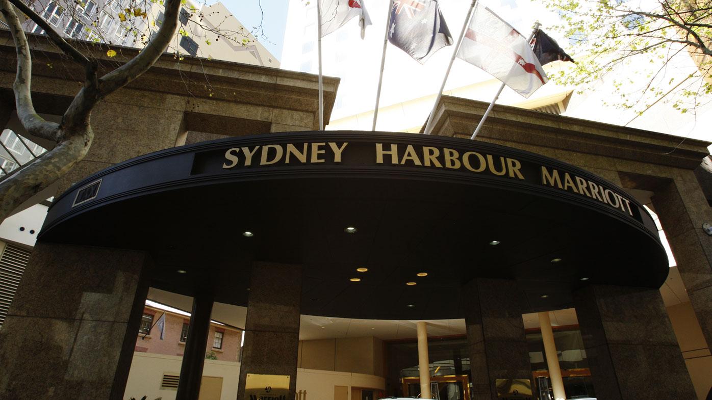 The Marriott Hotel in Circular Quay in Sydney.