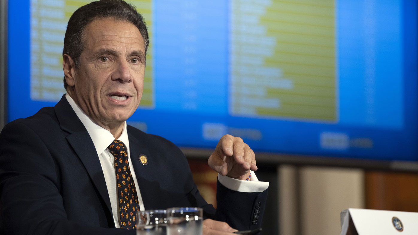 New York Governor Andrew Cuomo provides a coronavirus update during a news conference in the Red Room at the State Capitol in Albany, N.Y. (Photo: October 21, 2020)