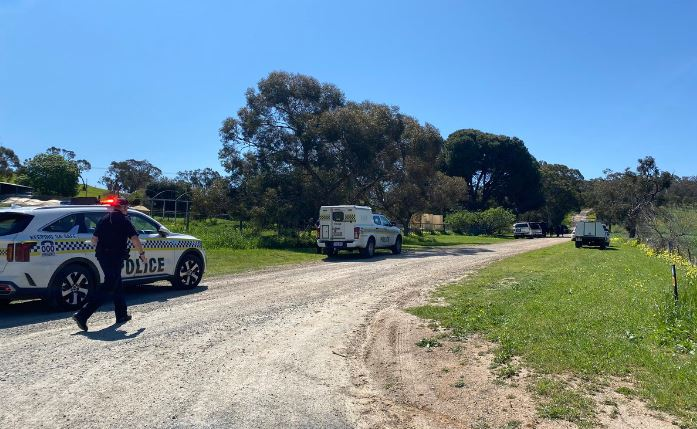 Armed police surrounding property near Barossa Valley