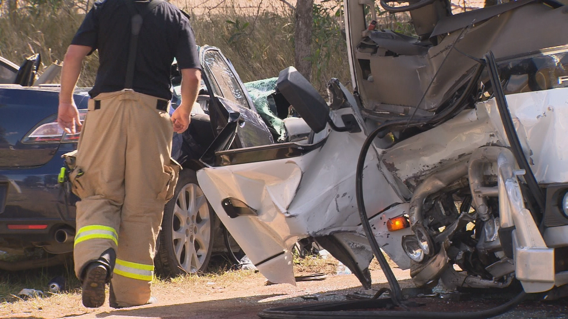 A Queensland Ambulance Officer said it was remarkable no one died in the head-on crash.