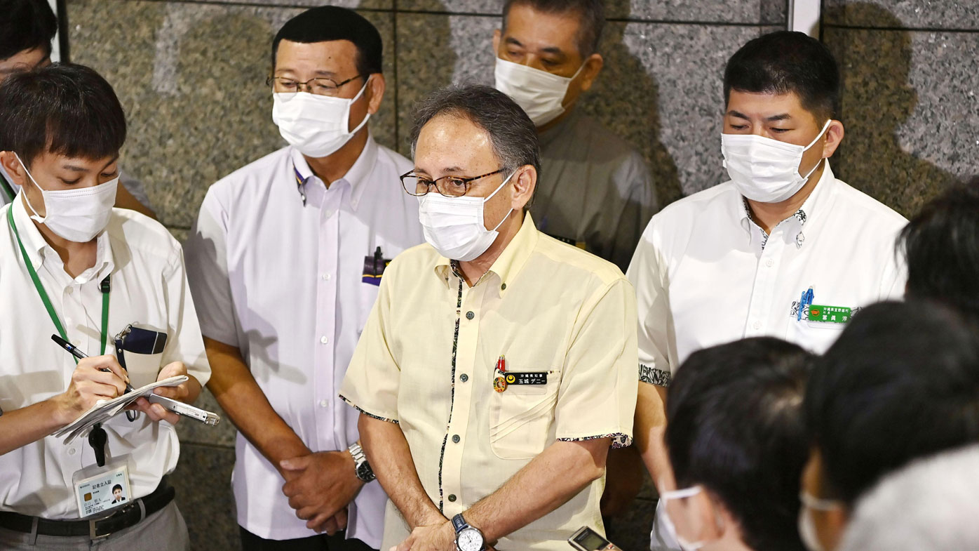 Okinawa Governor Denny Tamaki urged Japan's government this month to pressure the US military to better guard against an escalating coronavirus outbreak that has infected more than 130 Marines.