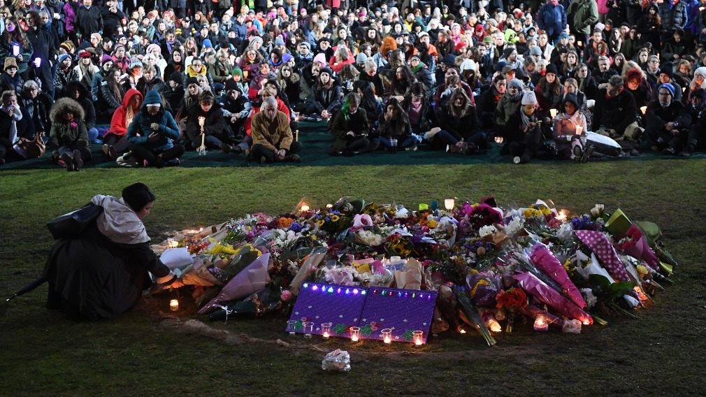 Thousands of people gathered at Princes Park to honour Ms Dixon.
