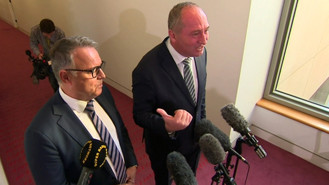 Barnaby Joyce claimed the shadow agriculture and resources spokesman, Joel Fitzgibbon, would lose his job over Labor's climate policy.