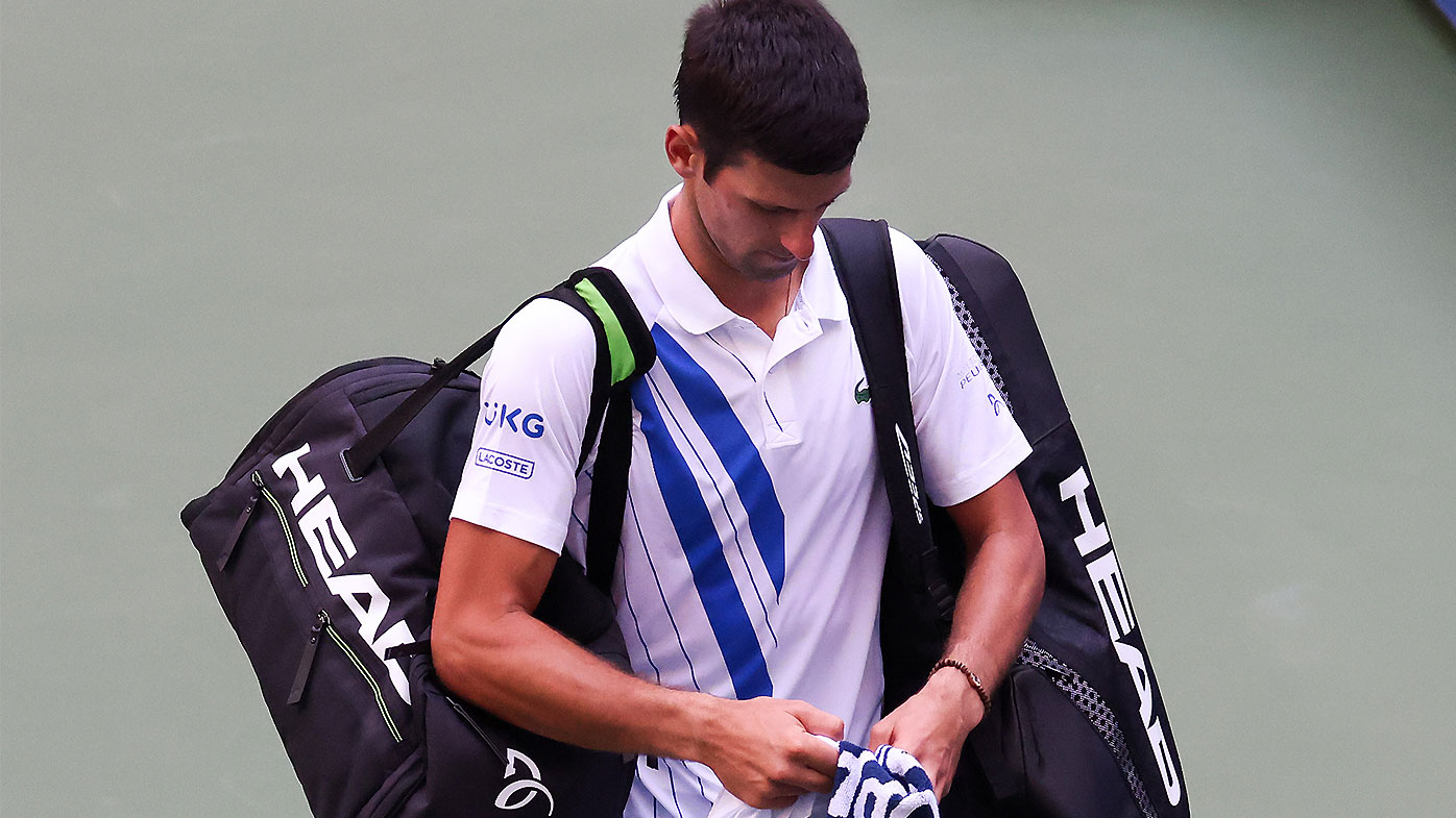 Novak Djokovic Us Open Default Kicked Out For Hitting Lineswoman With Ball Video Tournament Referee Explains Call