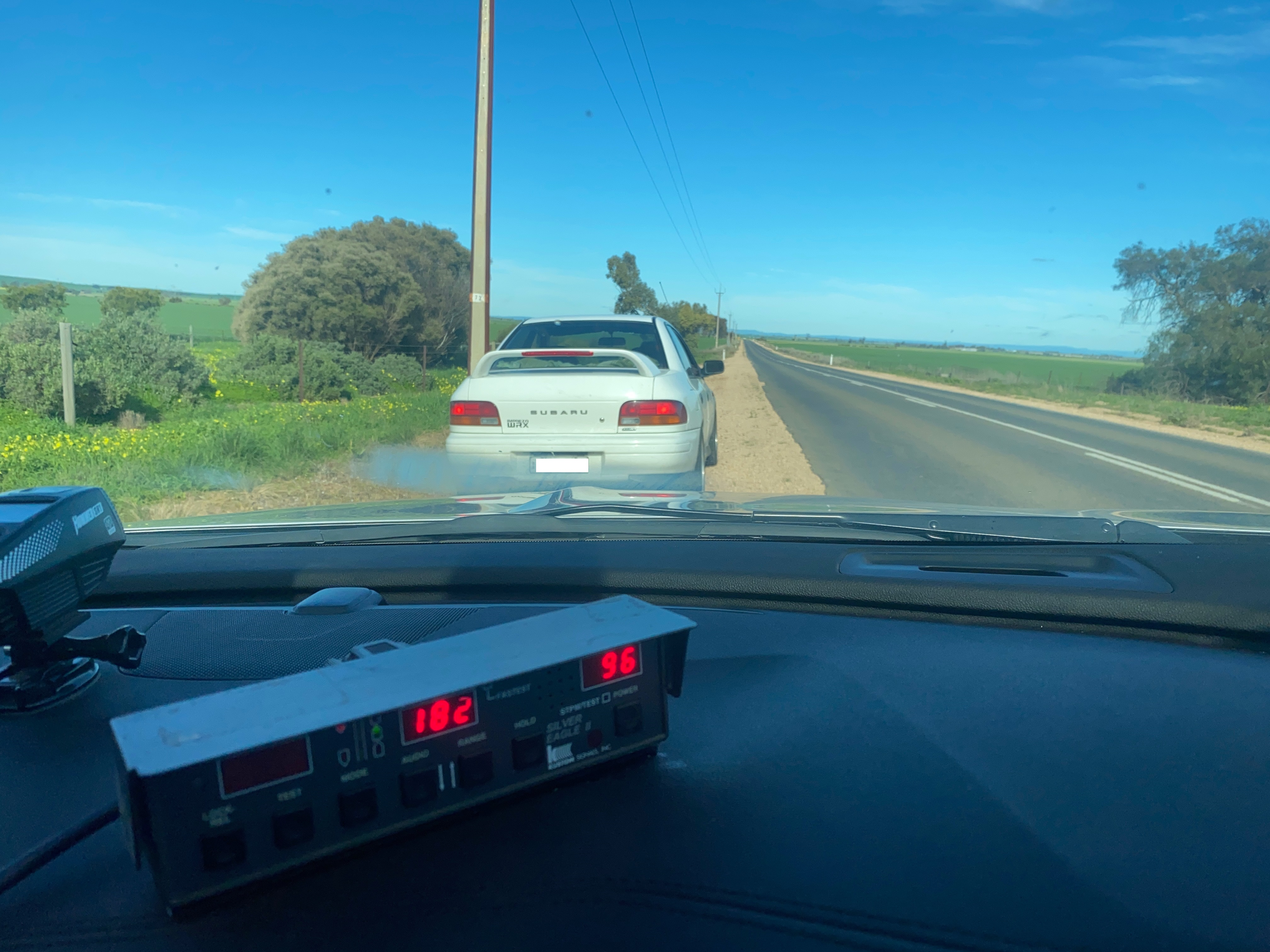 An 80-year-old South Australian Subaru driver has lost his driver's license for six months after travelling more than 80km/h over the speed limit.