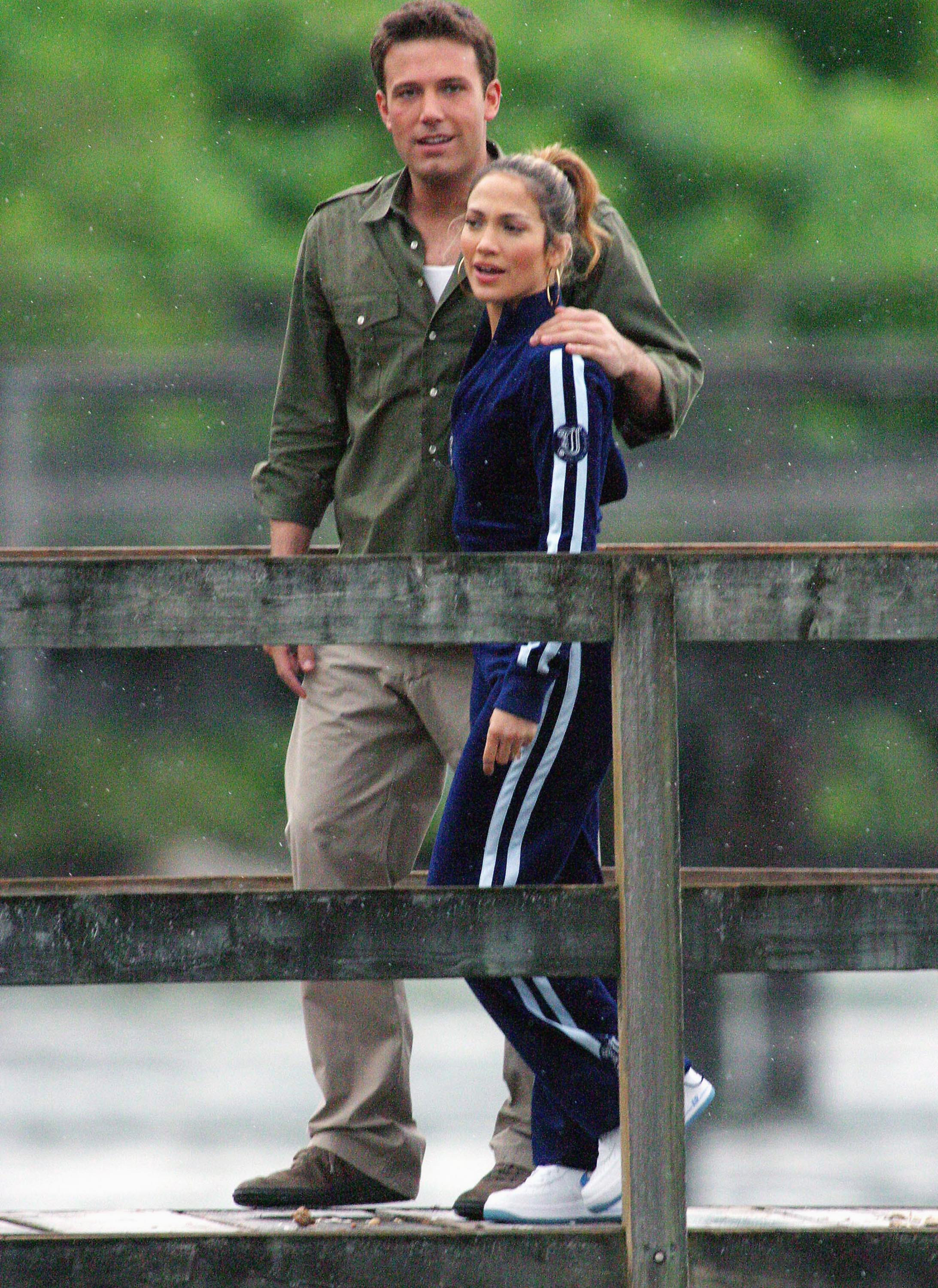 Jennifer Lopez and Ben Affleck on holiday together in Vancouver, Canada, in 2013.