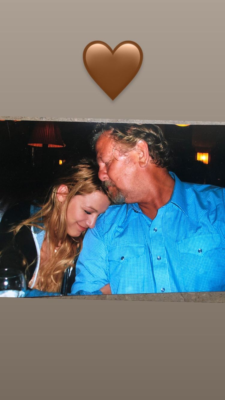 Blake Lively shares touching photo with her dad.