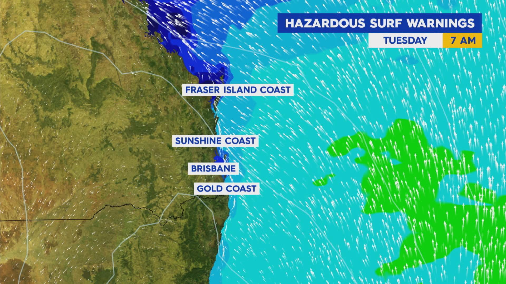 Hazardous surf conditions east coast
