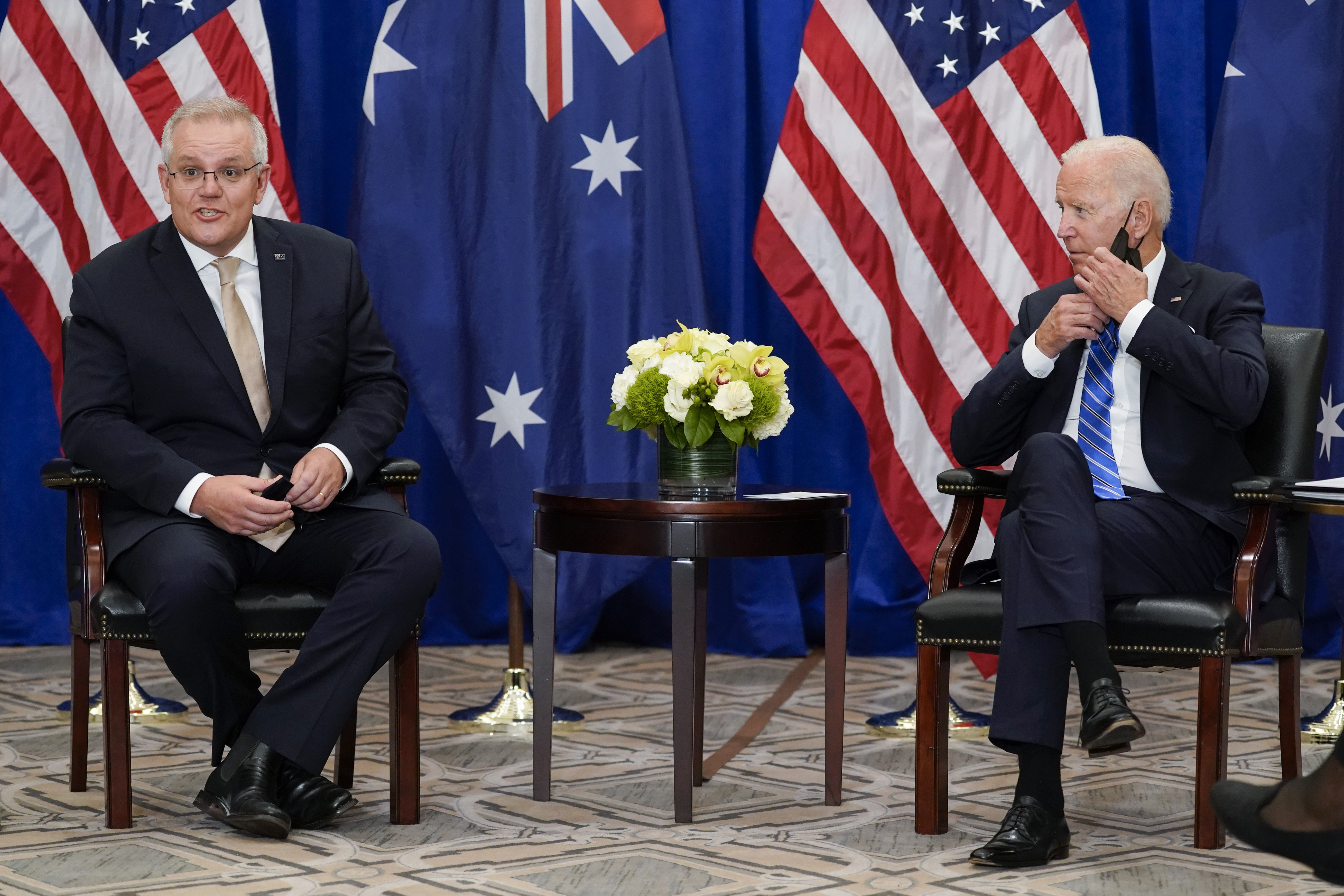 Australia and US 'in lockstep' in first meeting since AUKUS deal