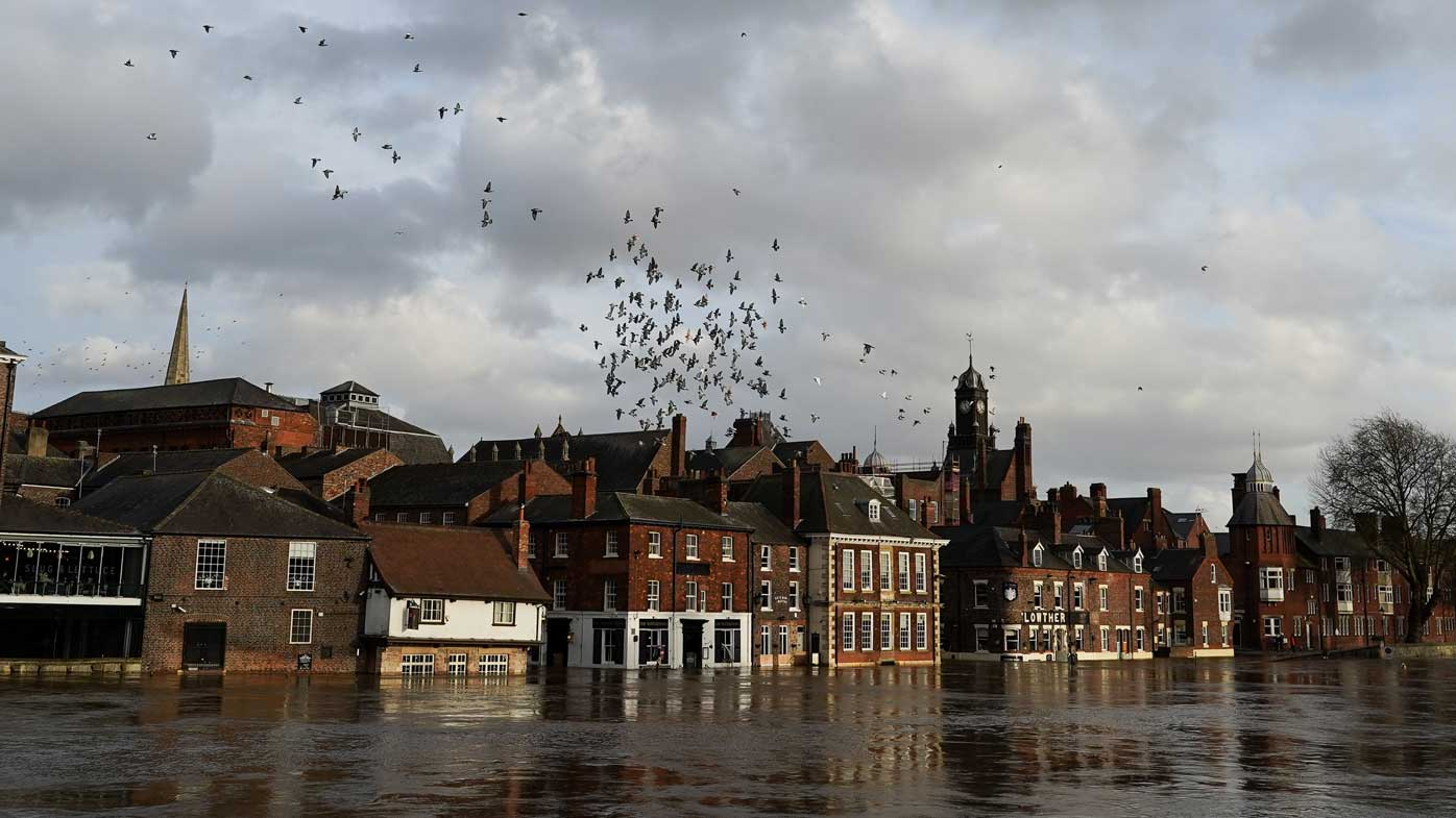 Storm Dennis flooded the city of York in England's north.