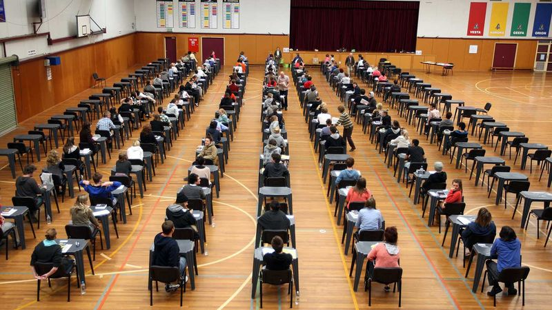 Students sitting their VCE exams in Victoria.