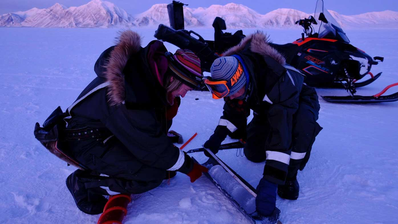"""Strom and Sorby are the first women in history to""""overwinter"""" in the Arctic without a male team member."""