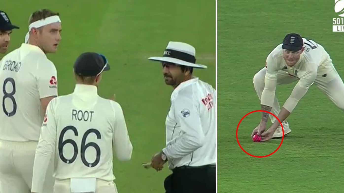 England fume over Ben Stokes' 'catch' being overturned.