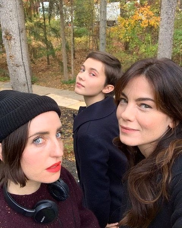 Director Zoe Lister-Jones (left) shares behind-the-scenes snap with The Craft: Legacy stars Cailee Spaeny (centre) and Michelle Monaghan.