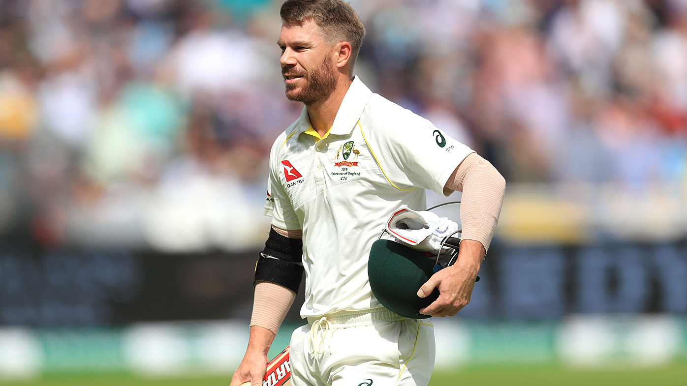 David Warner at the first Ashes Test