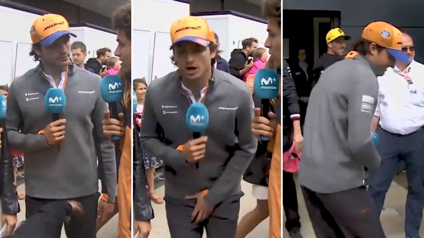 Ricciardo's cheeky low blow on Sainz