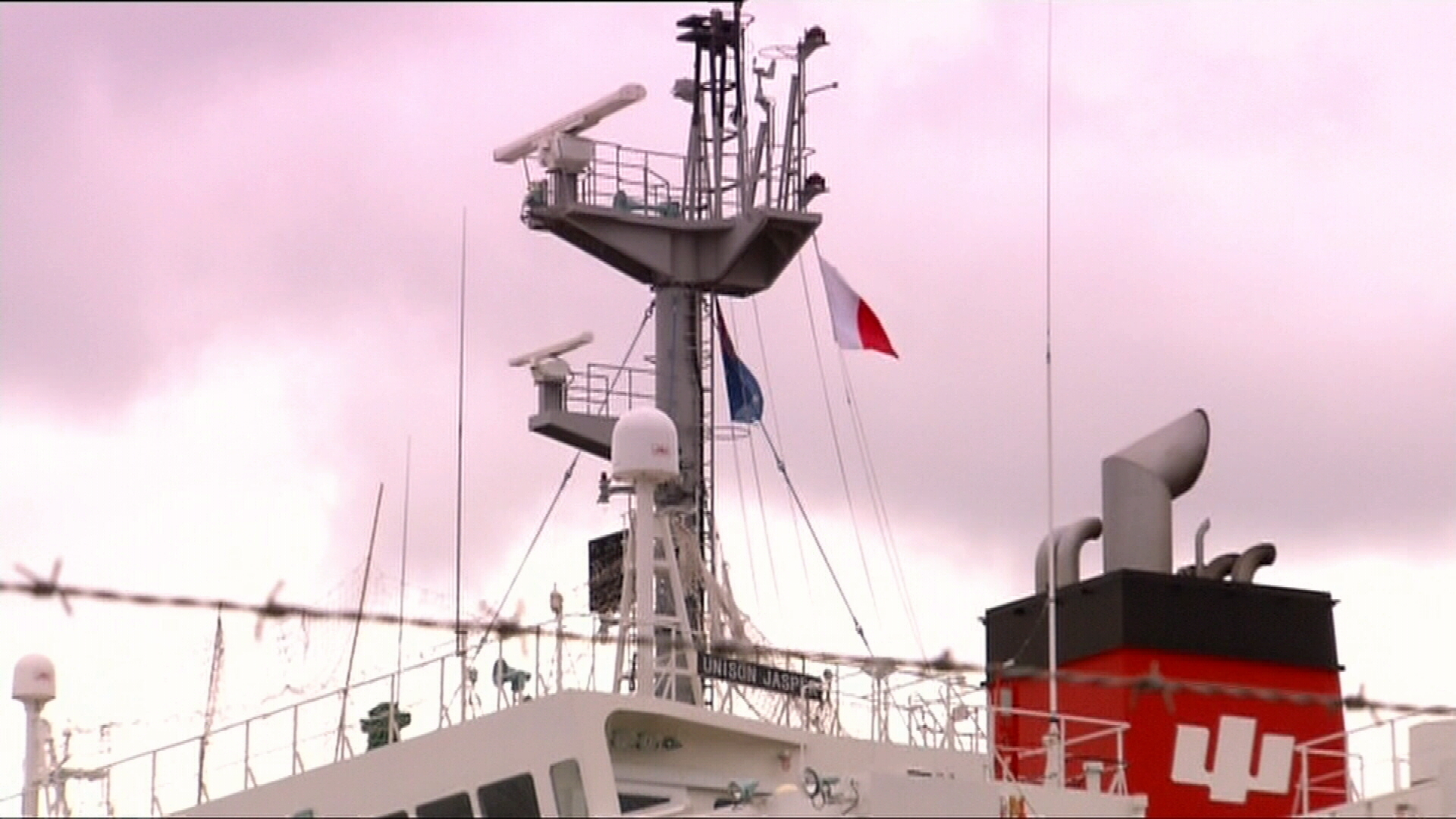 The crew, made up of Chinese and Burmese nationals, have been on board the ship for 14 months.