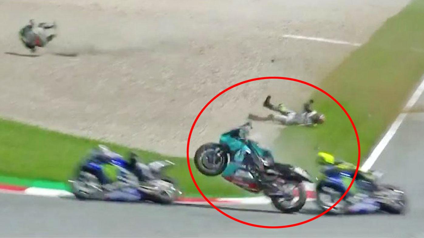Motogp Valentino Rossi Lucky After Crash At Austrian Grand Prix Johann Zarco Franco Morbidelli