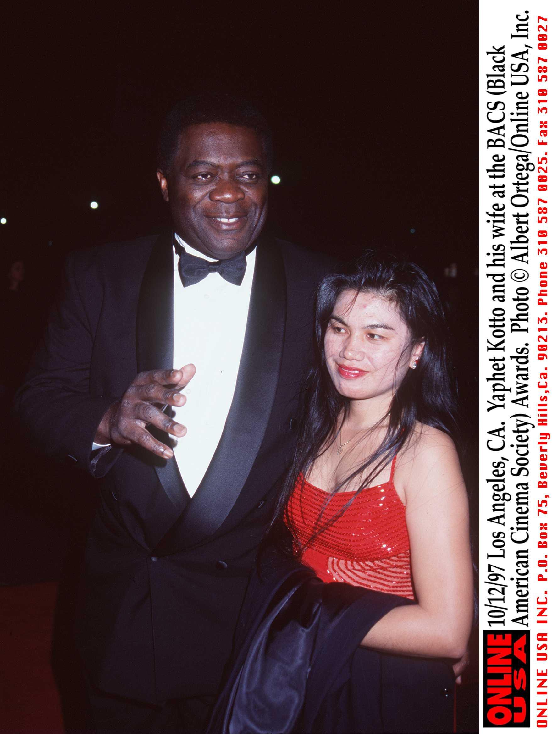 Yaphet Kotto and his wife