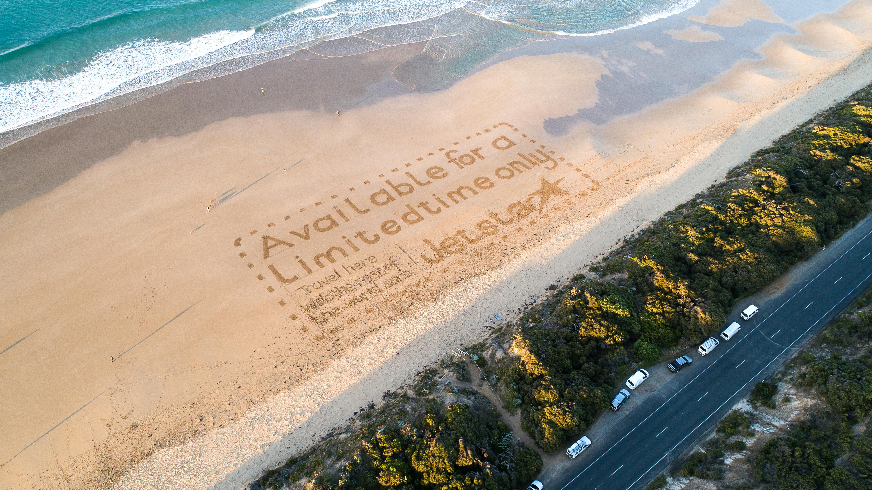 Great Ocean Road, sand art