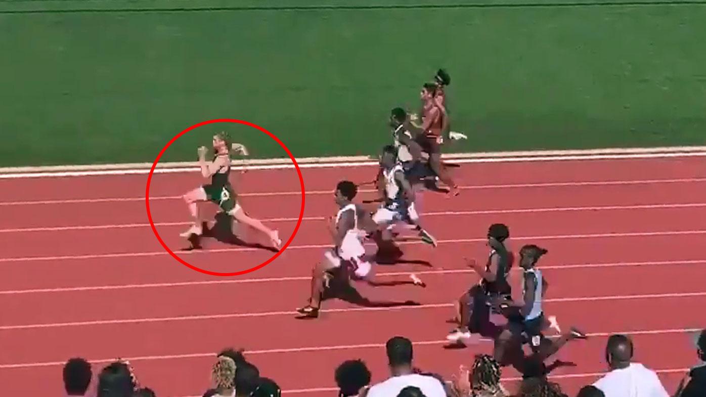 Matthew Boling sets new high-school 100m world record