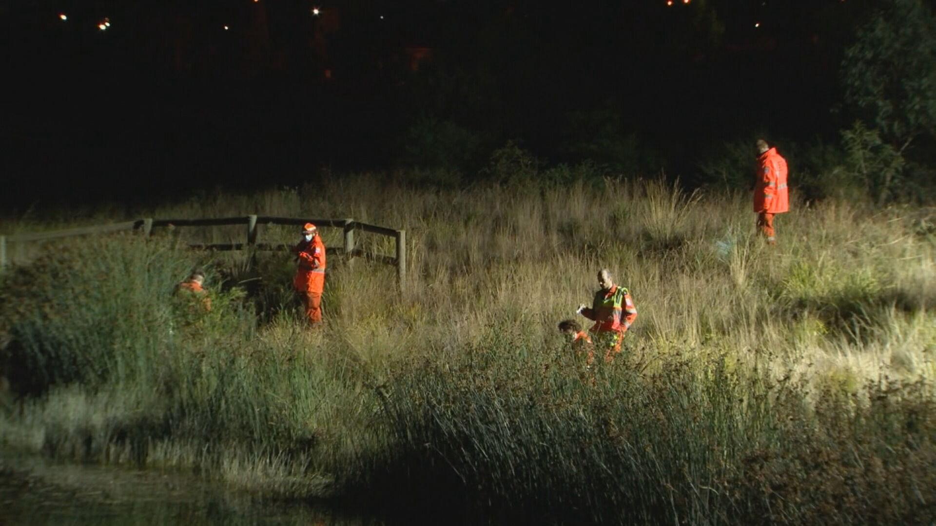 Police scour bushland after violent Melbourne home invasion