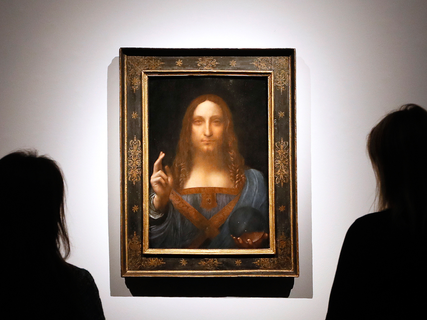 Salvator Mundi: The small, 66-centimetre-tall panel was commissioned by Louis XII of France around 1500.
