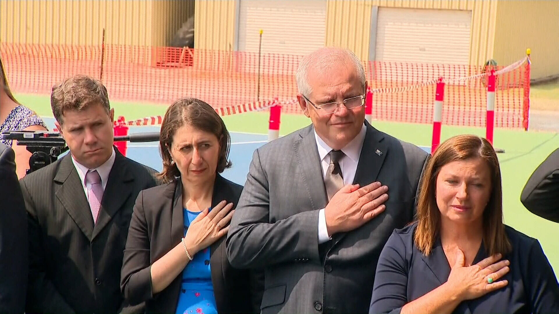 Prime Minister Scott Morrison attended the service with his wife Jenny, and NSW Premier Gladys Berejiklian.