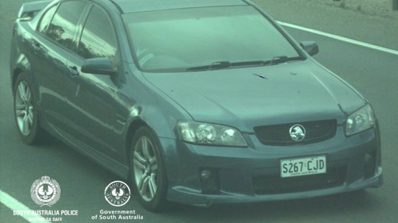 Police allege a man was driving this 2009 blue metallic Commodore with the number plates S267CJ, which he had borrowed off a friend.