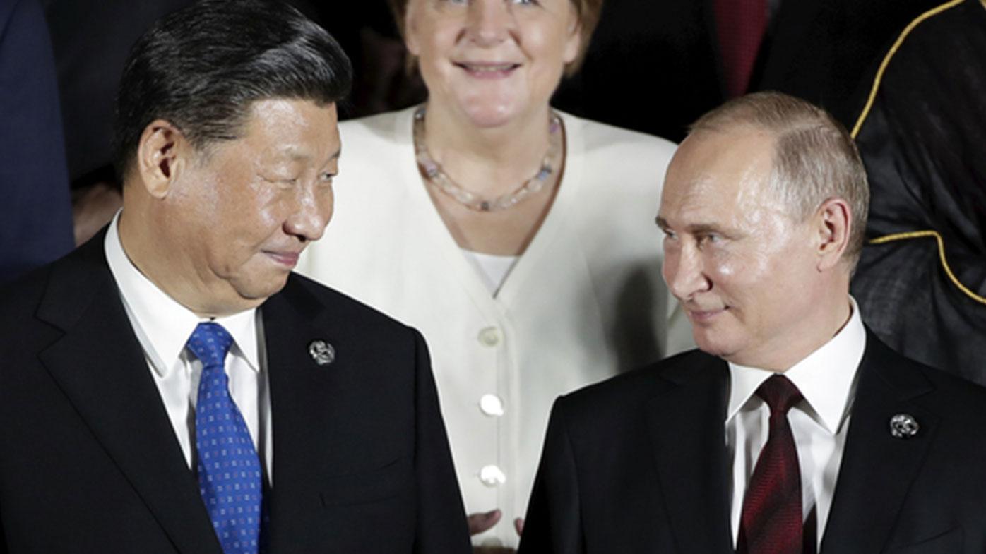 President of China Xi Jinping and President of Russia Vladimir Putin.